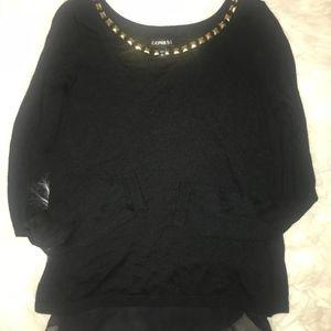 Express Black Open Back Sweater